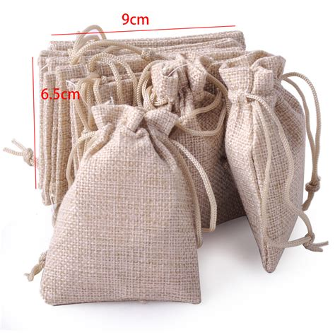 how to make a jewelry pouch drawstring small size 10x burlap linen jute sack pouch bag drawstring
