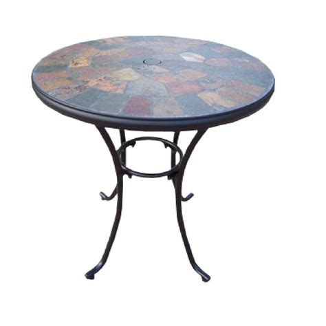 Oakland Living Stone Art 26 In Patio Bistro Table 77103 Bistro Table Patio