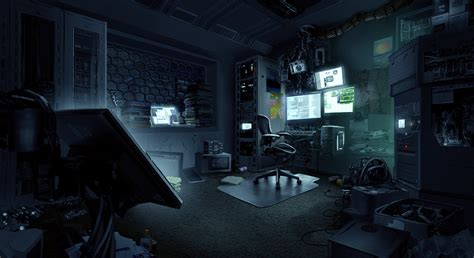 hacker room tim ridley on artstation at https www