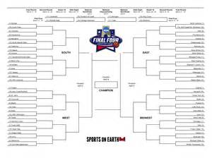 Empty Bracket Template by Get Your Printable 2016 Ncaa Tournament Bracket Here