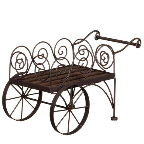 scroll cart planter garden decorations planters
