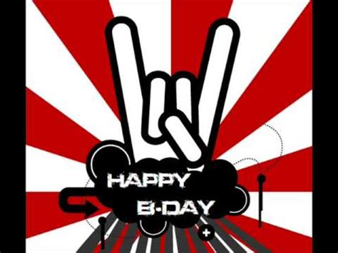 Imagenes Feliz Cumpleaños Rock | cancion de feliz cumplea 241 os rock youtube