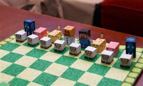 Minecraft Papercraft Chess - papermau mega blocks chess papercraft project by