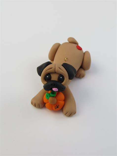 polymer clay pug pug fawn polymer clay figurine fall by heartofclaygirl on etsy 16 50 my next