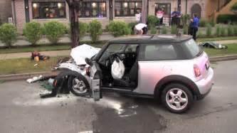 Mini Cooper Crashes Mini Cooper Crash Car Vs Tree Dundee Rd Near Portillo S