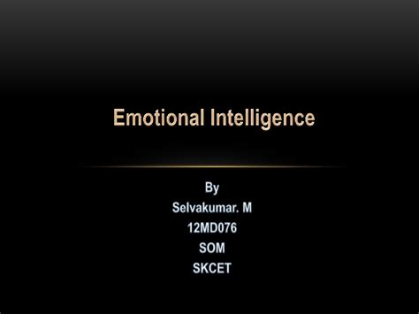 Mba Emergency Management by Emotional Intelligence For Mba S Disaster Management
