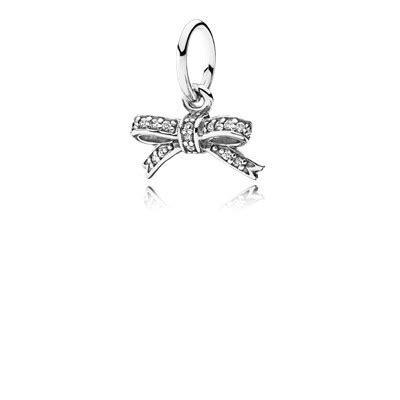 Disney Bow With Clear Cz Charm P 1168 sparkling bow pendant clear cz 390357cz necklaces and pendants pandora