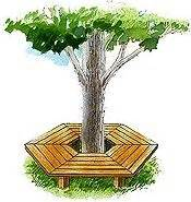free tree bench plans 1000 images about free tree bench plans on