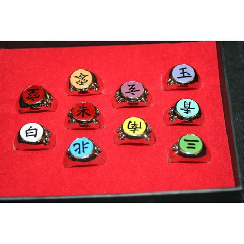 Ring Akatsuki Set lot of 10 akatsuki ring set