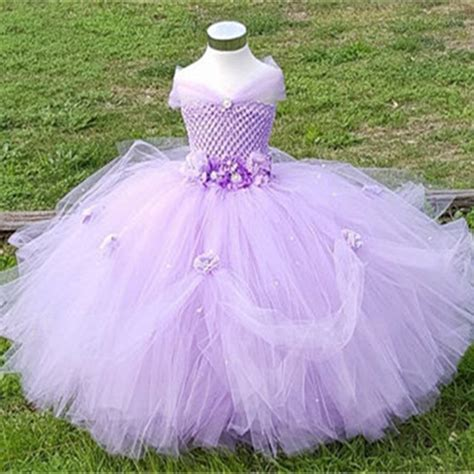 Princes Gown Tutu Dress Baby 8 Thn Code A3 1 8y princess tutu tulle flower dress pageant bridesmaid wedding tutu dress pink