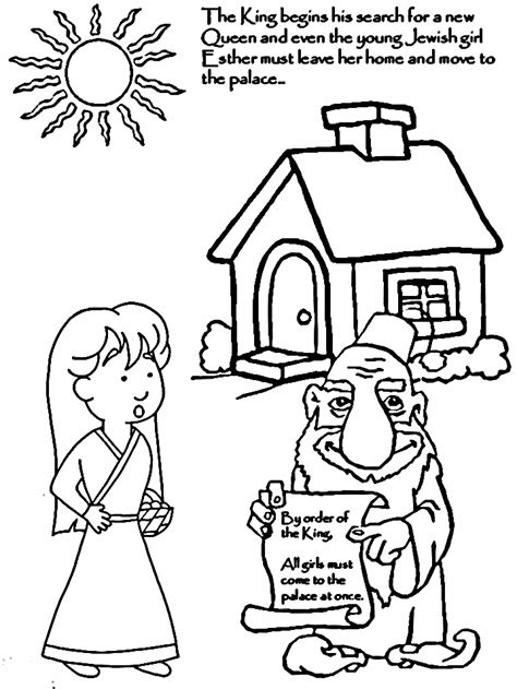 Coloring Page Esther by Esther Coloring Pages Coloring Home