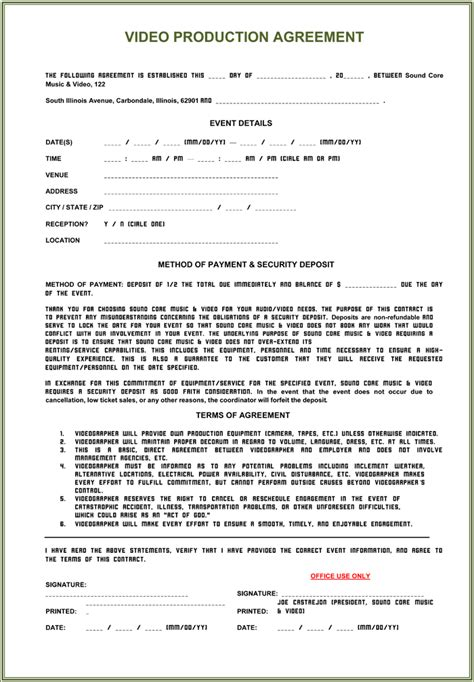 manufacturing agreement template free production contract 6 plus printable contract sles