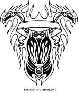Tribal shield tattoo designs harley davidson tattoos