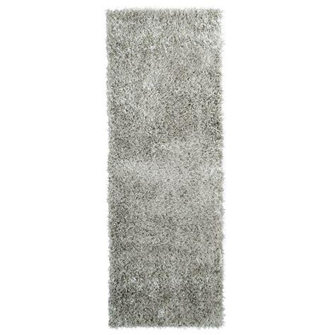 11 ft runner rug home decorators collection city sheen silver 2 ft x 11 ft rug runner csheen211sv the home depot