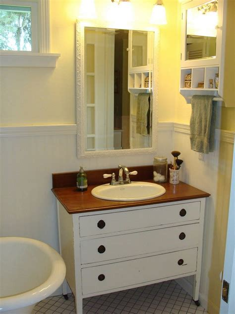 diy bathroom vanity from dresser diy bathroom vanity
