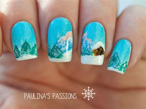 Landscape Nails Winter Nails Winter Landscape