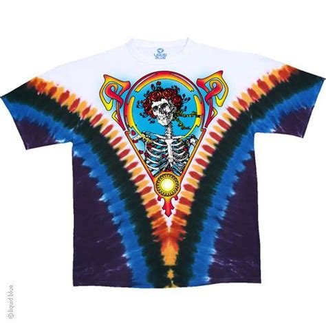 wholesale grateful dead bertha v tie dye t shirt liquid blue