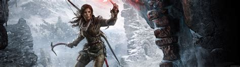 3840x1080 wallpaper video game rise of the tomb raider wallpaper 11 3840x1080
