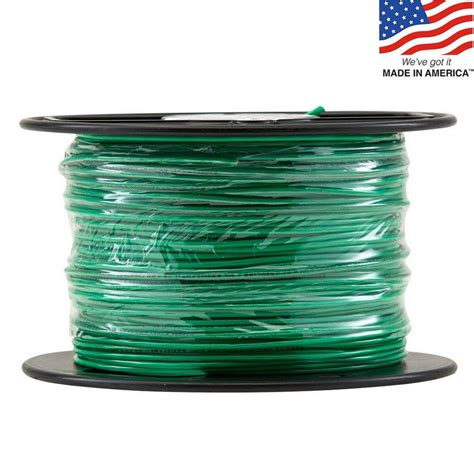 shop 500 ft 16 awg stranded green tffn wire by the roll