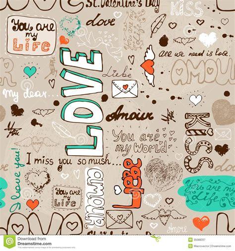pattern of writing love letter seamless love letter pattern stock vector illustration