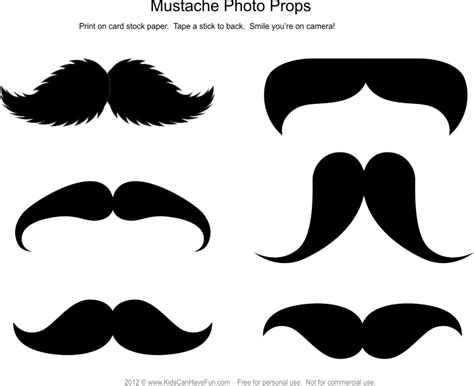 15 printable mustache templates and photo booth props mustache photo booth template pictures to pin on pinterest