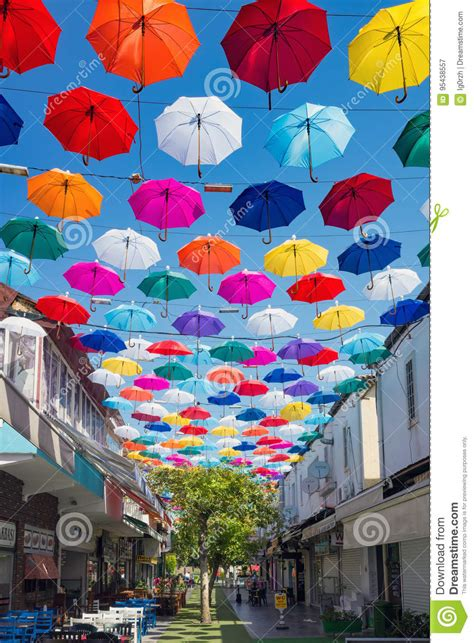 X2 3746 St Umbrella open colorful umbrellas hang in antalya turkey editorial photography image 95438557