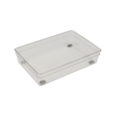 plastic drawer slides the home depot home basics 6 in x 9 in plastic drawer organizer pb44684