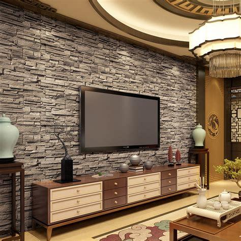 pareti da soggiorno sala con mattoni a vista