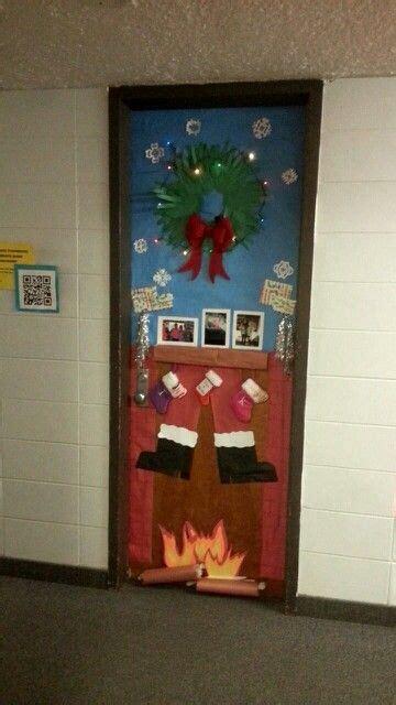 diy santa claus classroom door santa coming the chimney door decoration diy door door