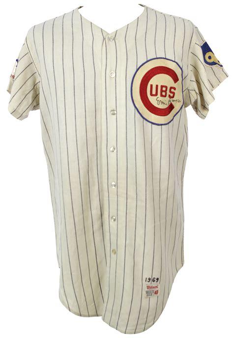 lot detail 1969 ernie banks chicago cubs signed