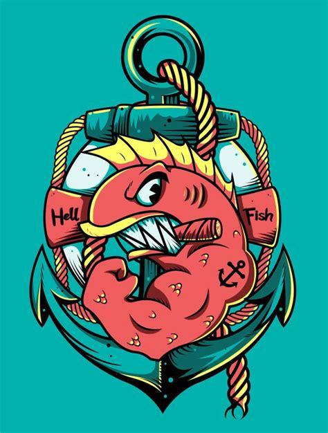 hellfish by festo illustrations via behance ideas
