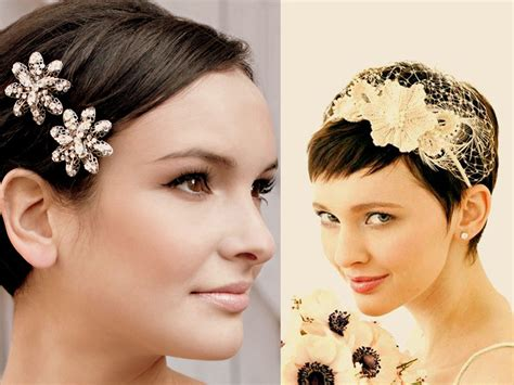 short haircuts styed with barrettes top 23 perfect wedding hairstyle for short natural hair