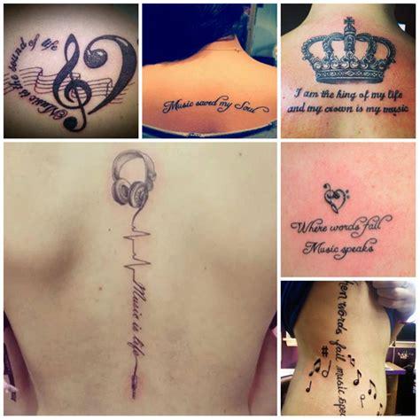 tatuajes de la cita de la m 250 sica