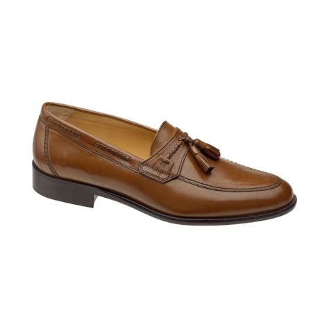 johnston and murphy tassel loafers johnston murphy vauter tassel loafers in brown for
