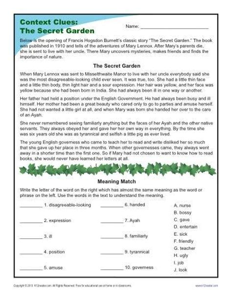 meaning of activities of gardening best 25 context clues worksheets ideas on