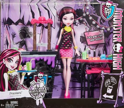 imagenes nuevas monster high monster high beast bites cafe draculaura doll playset