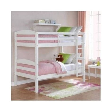 White Bunk Bed Twin Over Twin Wood Bunk Beds Loft Kids Bunk Bed Ebay