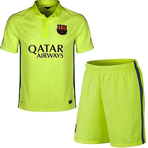 Jersey Kid Barcelona 3rd barcelona jersey 2014 2015 fc barcelona third lime green lionel messi 10 football soccer