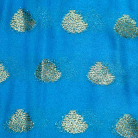 pattern chiffon fabric buy sky blue and golden tree pattern chiffon indian fabric
