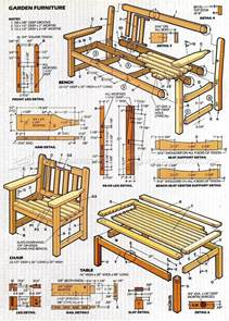 Table Jointer English Garden Furniture Plans Woodarchivist