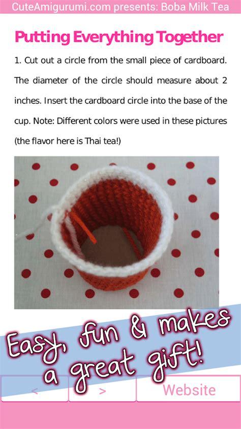 crochet pattern maker app boba milk tea crochet pattern android apps on google play