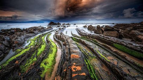 spanish nature of photographs 0714865702 playa de barrika un para 237 so natural en el pa 237 s vasco