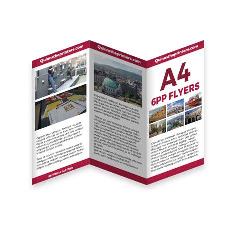 cheap 6pp a4 flyer printing for trade quinnstheprinters com