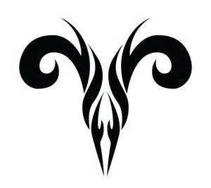 aries tribal tattoo stencil tattooshunt com