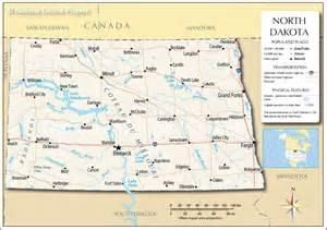North Dakota Map Usa by Map North Dakota Us