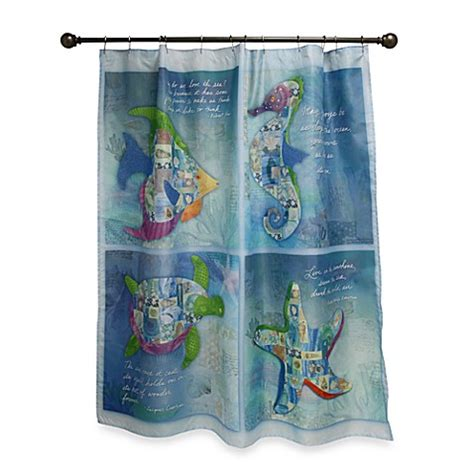 sea shower curtains buy sea allure 70 inch x 70 inch shower curtain from bed