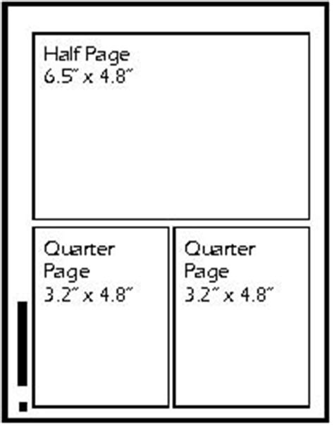 quarter page flyer template ad size guide