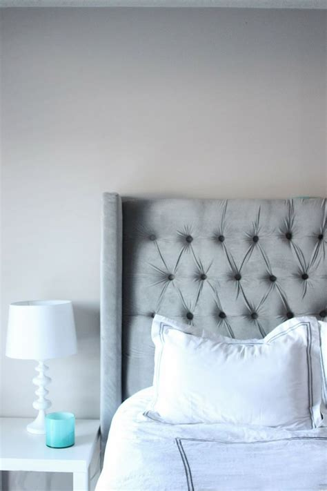 diy tufted gray velvet headboard things to make