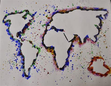 the study of maps artisan des arts splatter negative space maps grade 6