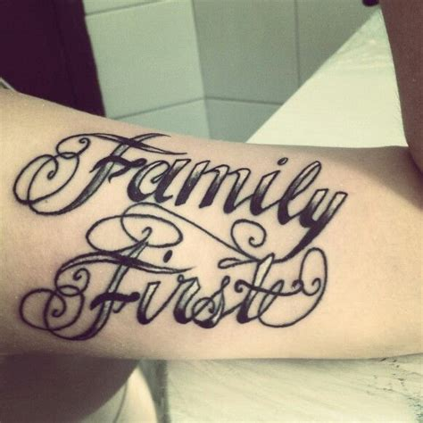 family first tattoo family tattoos lettering www pixshark images